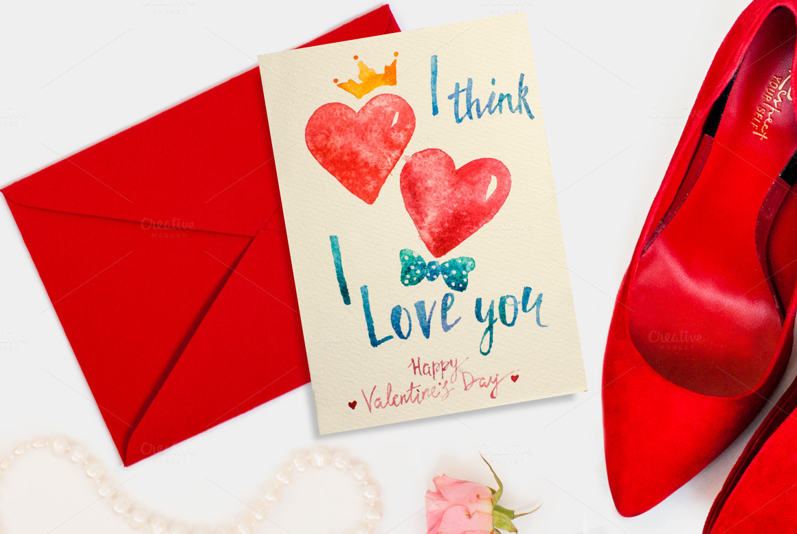 Watercolor Lettering Valentines Day Cards On Behance
