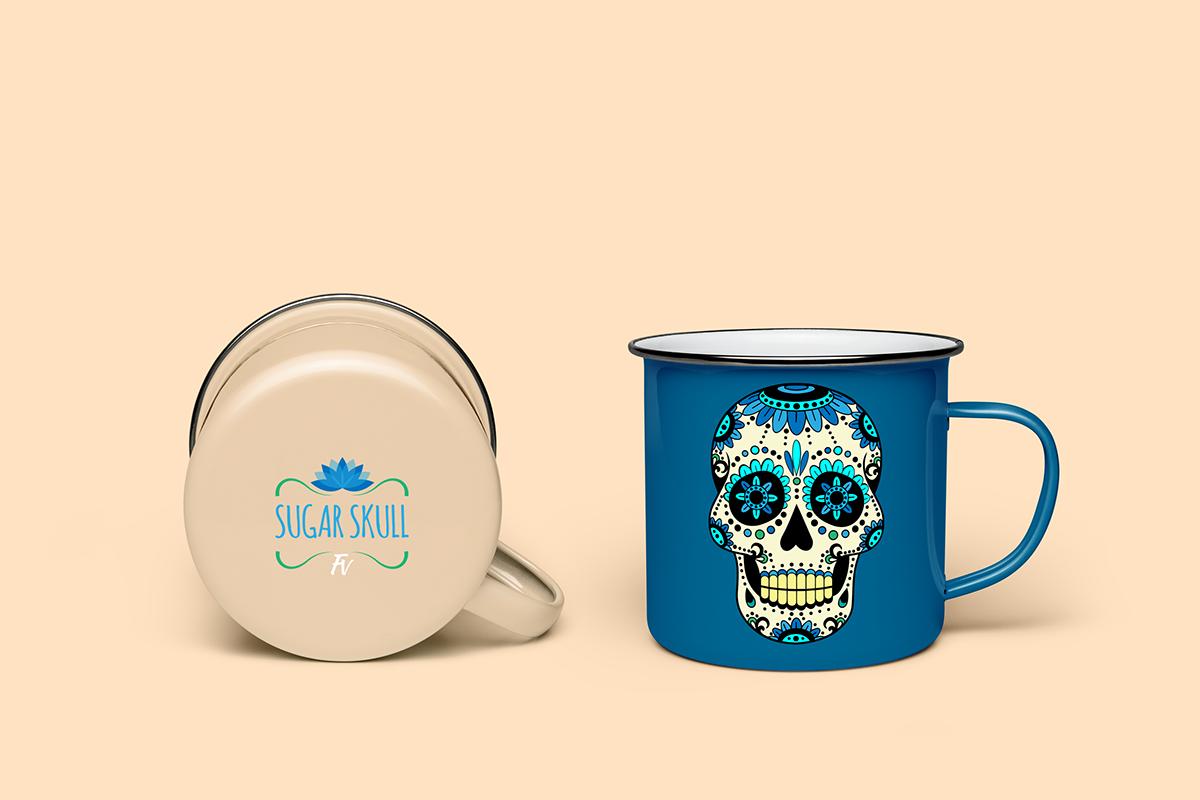 Mug  Mugs sugar skull Lotus