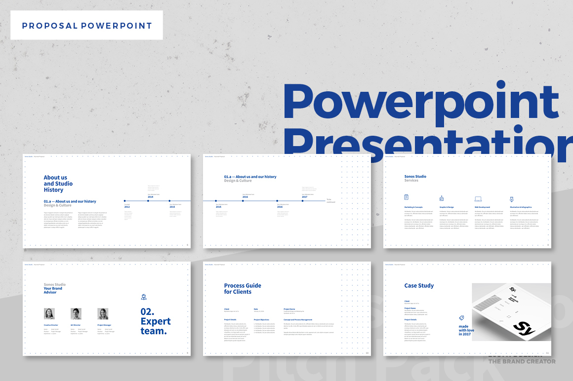 proposal powerpoint presentation for microsoft office on behance