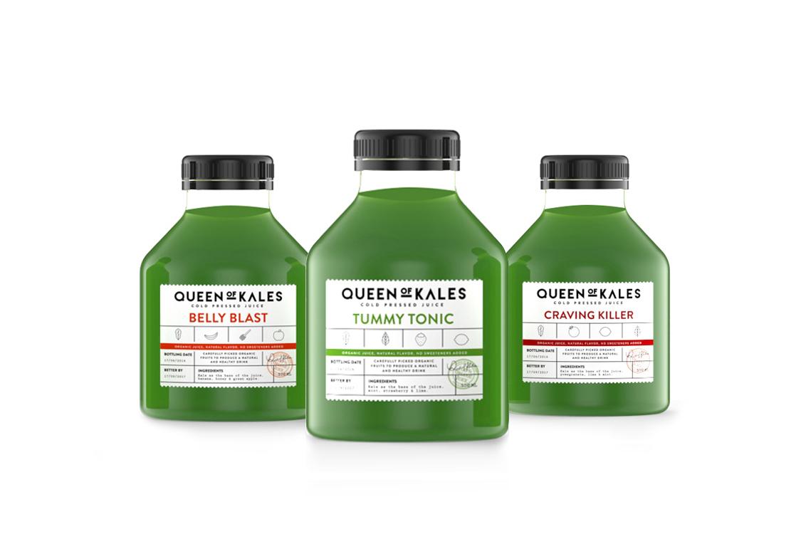 juice Cold Pressed package design  beverage Kale green drink