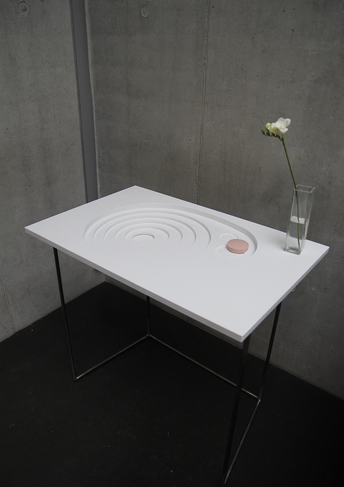 Basin washbasin bathroom product design  artificial stone Interior