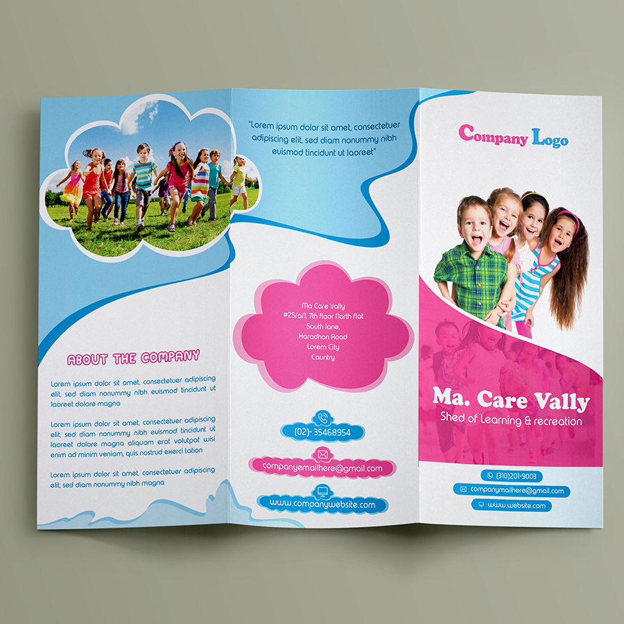 best child care tri fold brochure on behance
