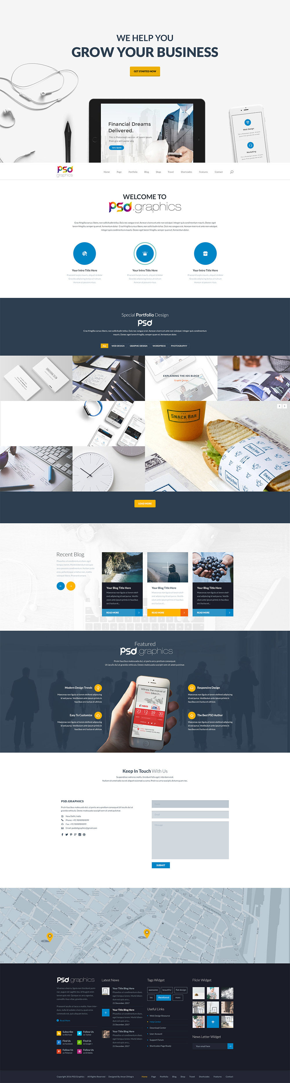 Freebie professional business website template psd on behance download professional business website template free psd here is a free exclusive psd of a creative website design that designers and small agencies who wajeb Choice Image