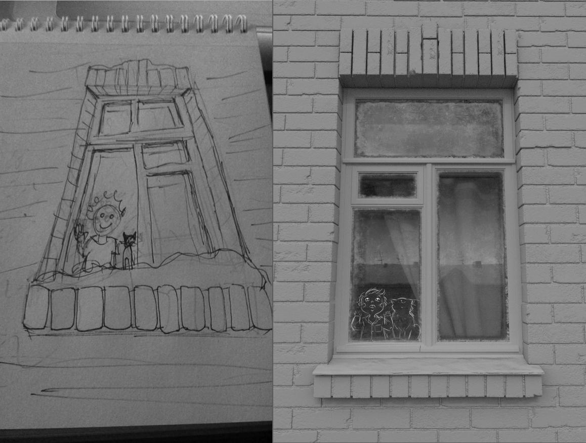 winter post-soviet Soviet snow Window warm kid cartoon Christmas new year