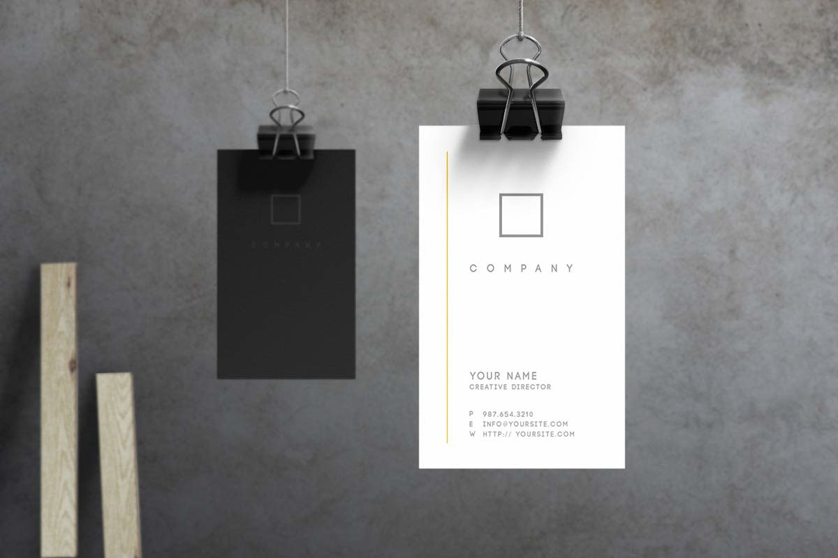 no 7 minimalist business card template on behance