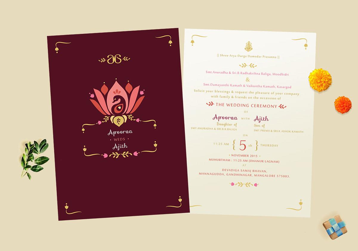 Wedding Invite - Apoorva + Ajith on Behance