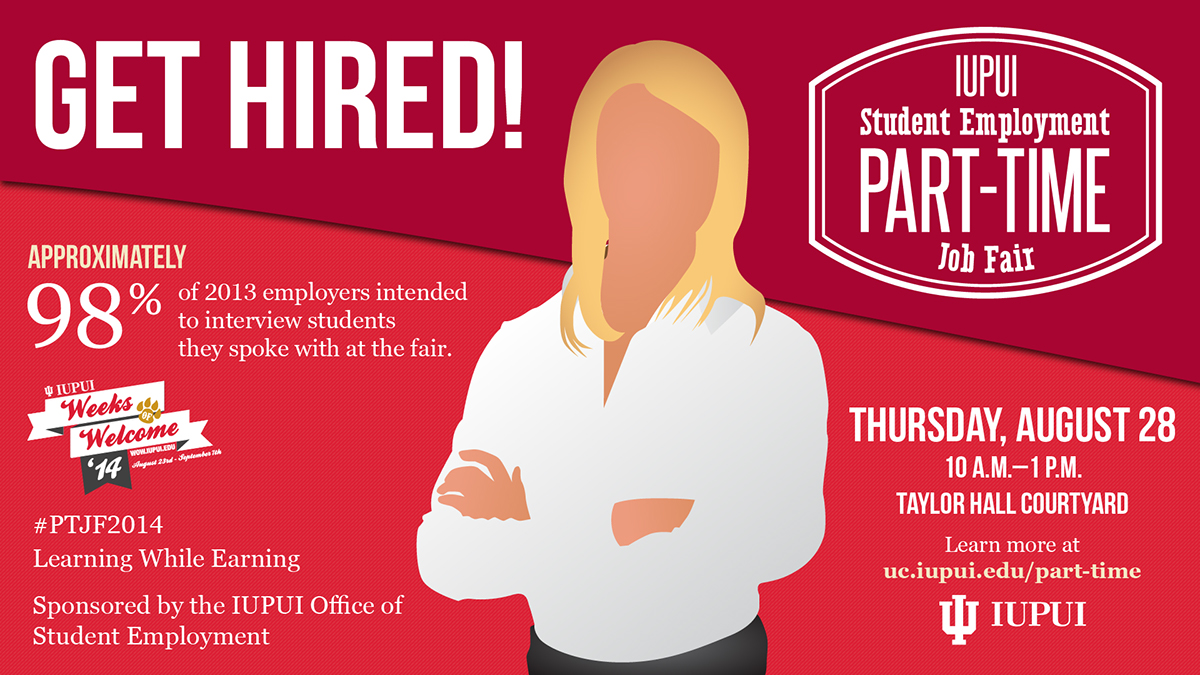 office of student employment part time job fair 2014 on behance