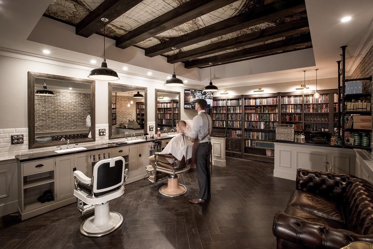 Barbershop design on behance - Barber shop interior ...