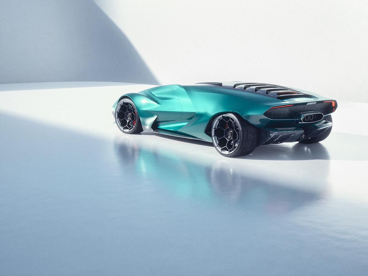 CGI concept concept car Daylight studio Lancia Maya retouching  Stratos studio vray