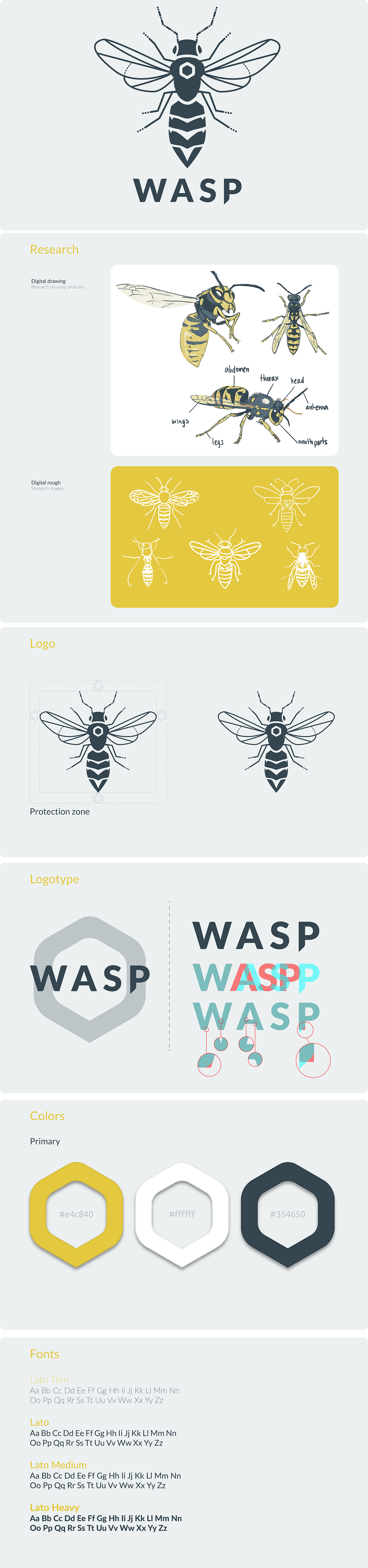 brand identity graphique graphic design wasp Logotype insect