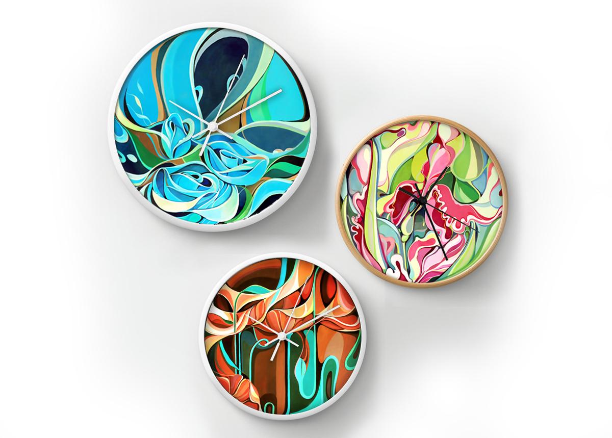 flower gouache decorative abstract