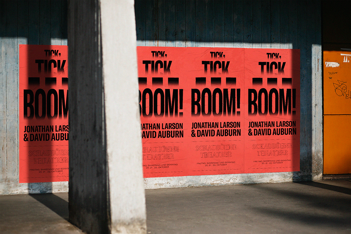 tick tick boom poster brochure on behance