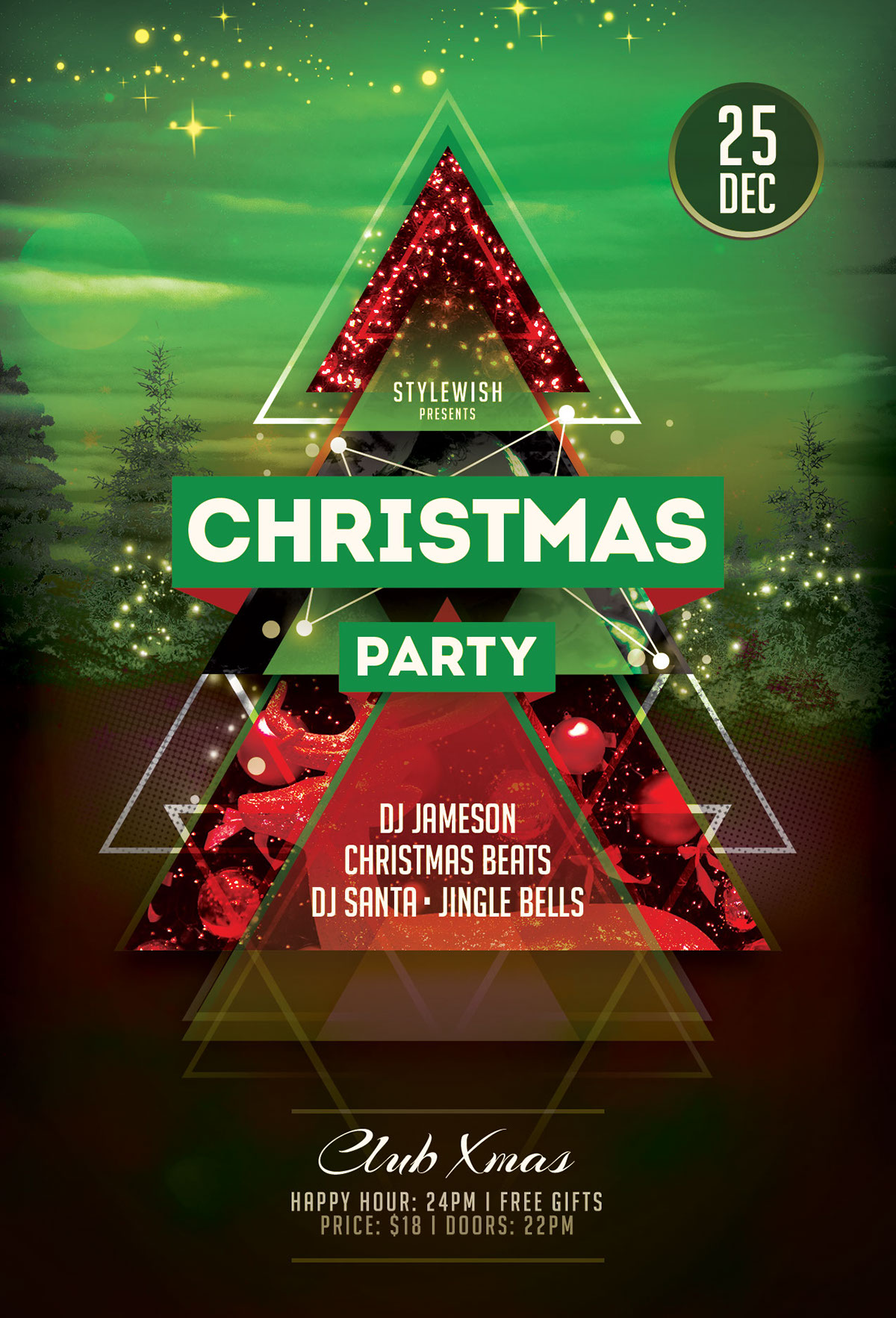 Christmas Party Flyer.Christmas Party Flyer Template On Behance