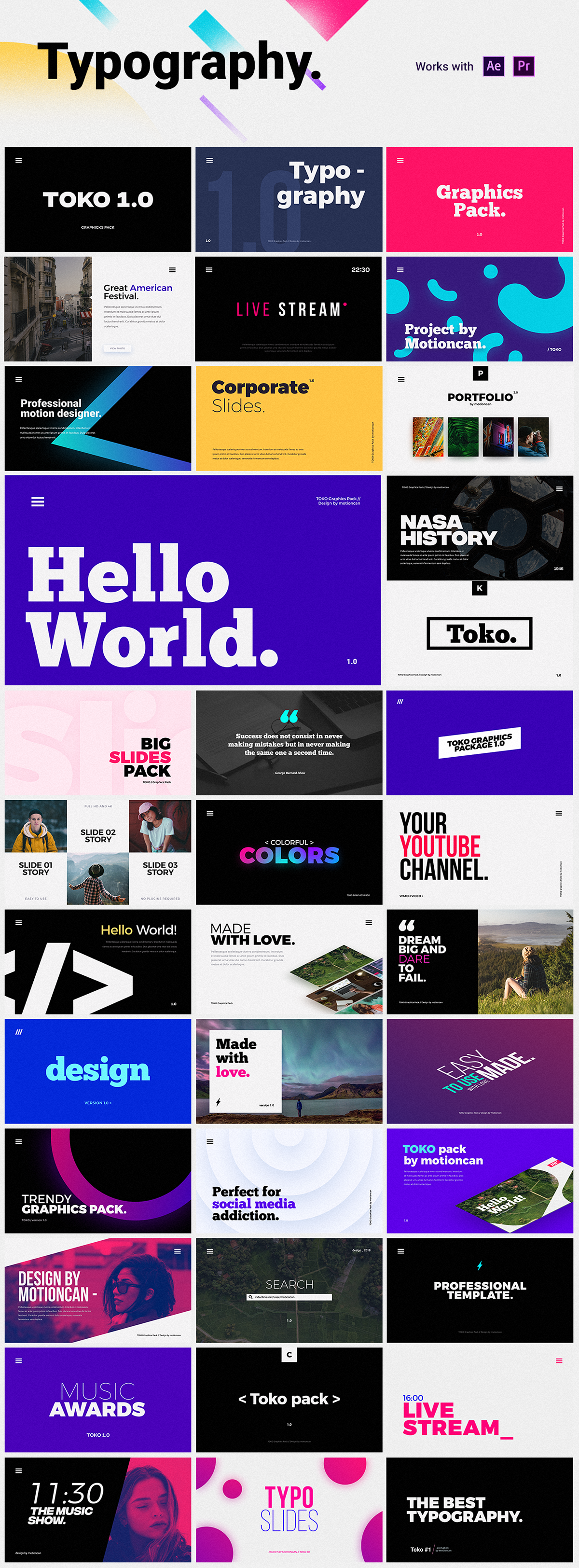 750+ Graphics Pack for After Effects and Premiere Pro on Behance