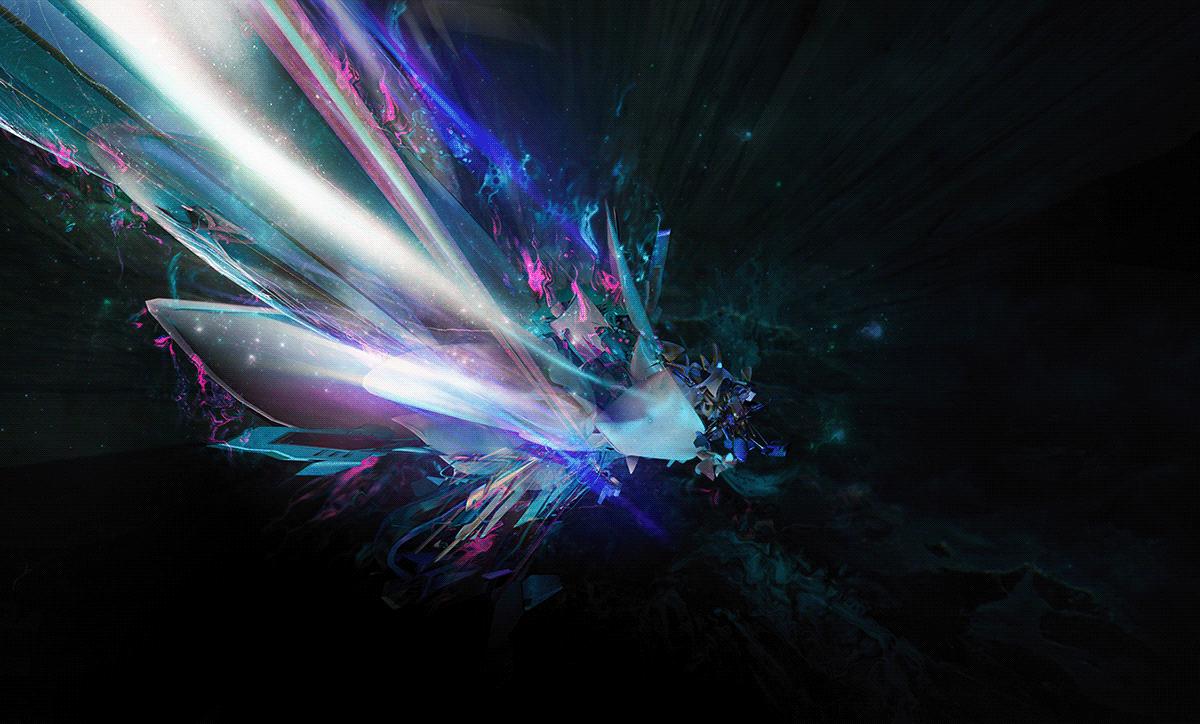 3D abstract aurora c4d fantasy ILLUSTRATION  Matte Painting Scifi surreal