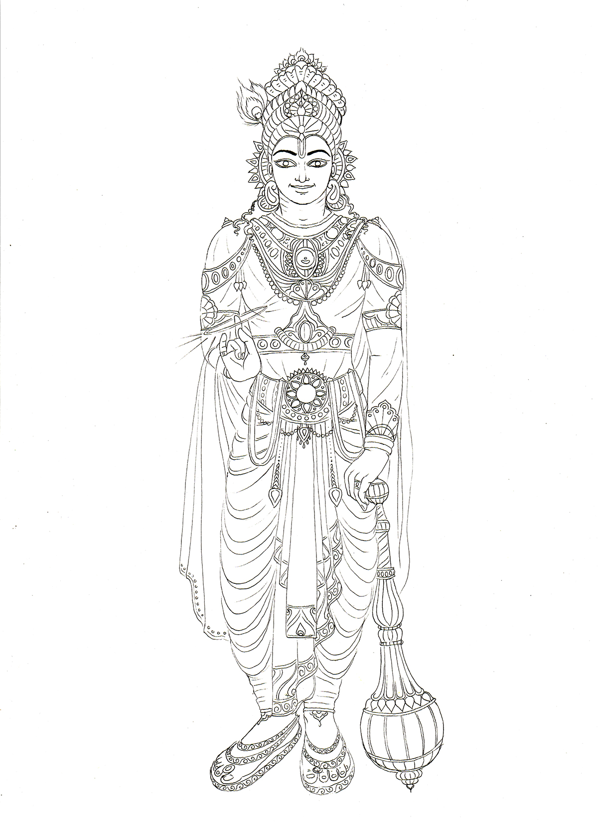 245 75 16 >> Mahabharata characters (drawings for colouring book) on ...