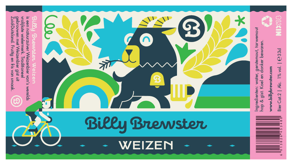 beer labels billy brewster branding  Cycling Brand cycling clothes graphic ilustration label design packaging design print design  Vector Illustration