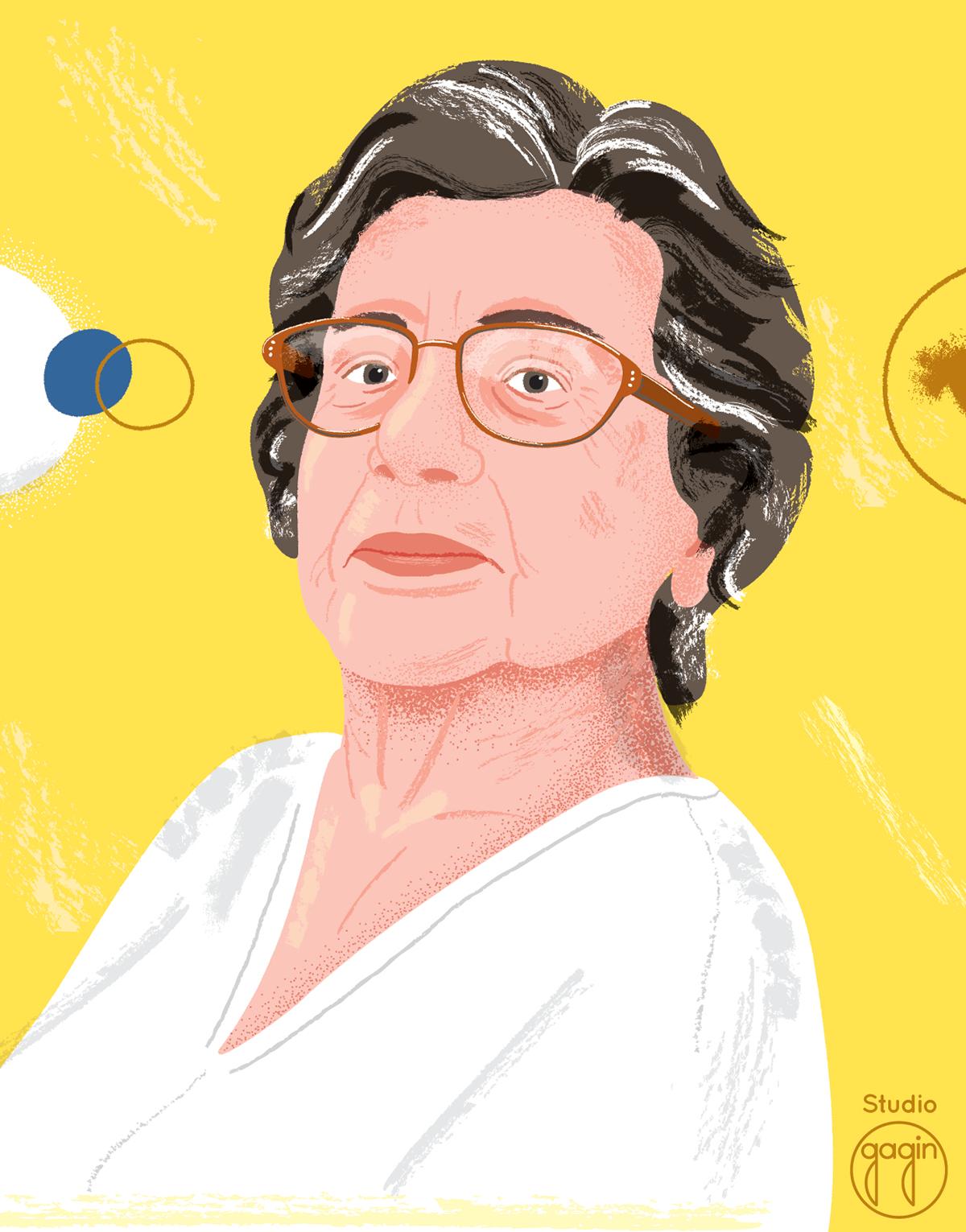 grandmother grandma abuela granny ILLUSTRATION  ilustracion retrato portrait woman mujer