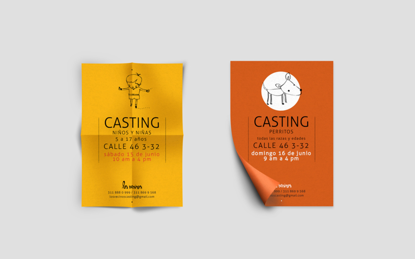 identity casting businness cards cards Character personal cards