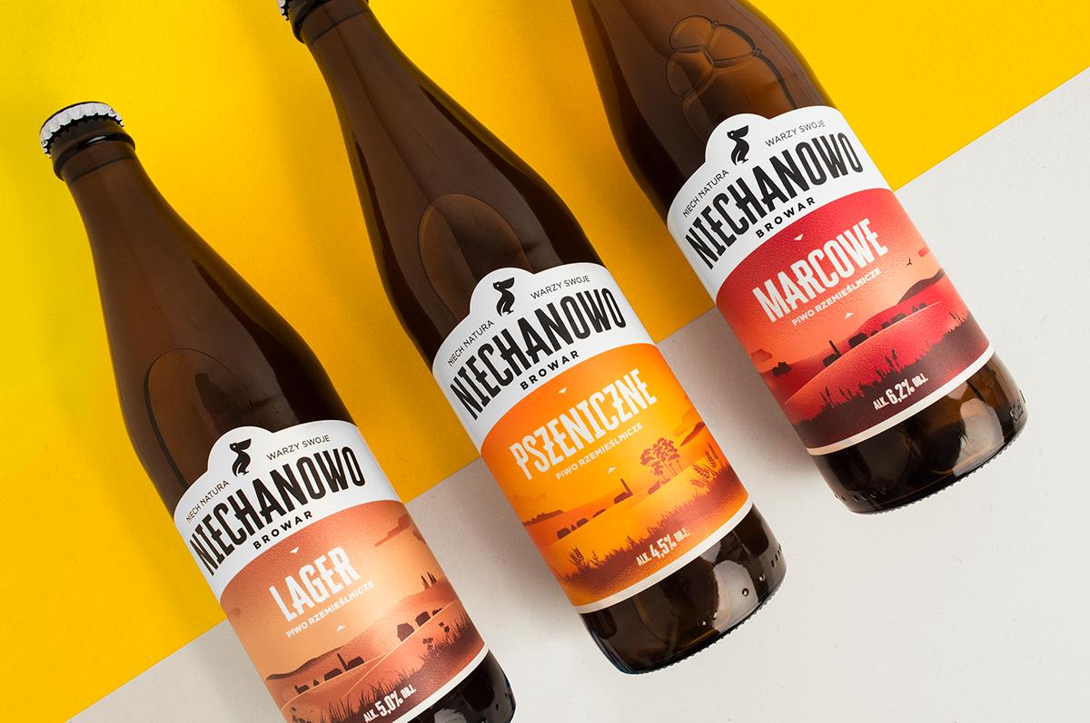 craft beer beer packaging design Label ILLUSTRATION  flat design pantone