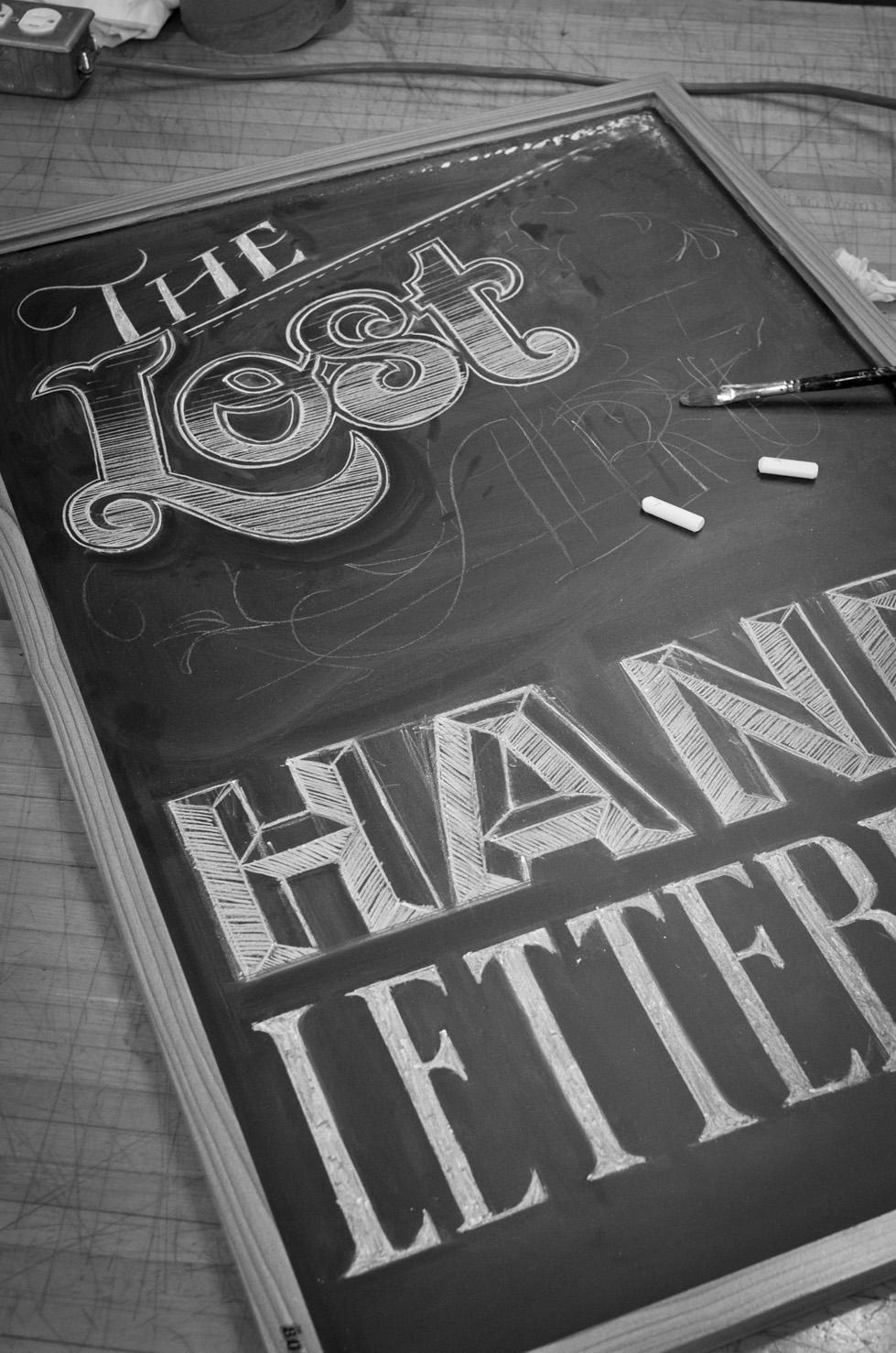 Chalk Lettering Chalkboard brick lettering chalk Signage vintage lost art rustic hand crafted ornate hatched dusty Script