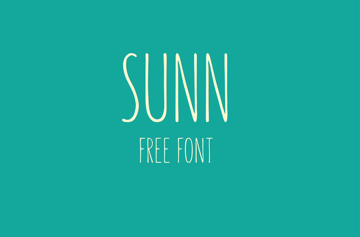 Sunn - Free Handwriting Font Download