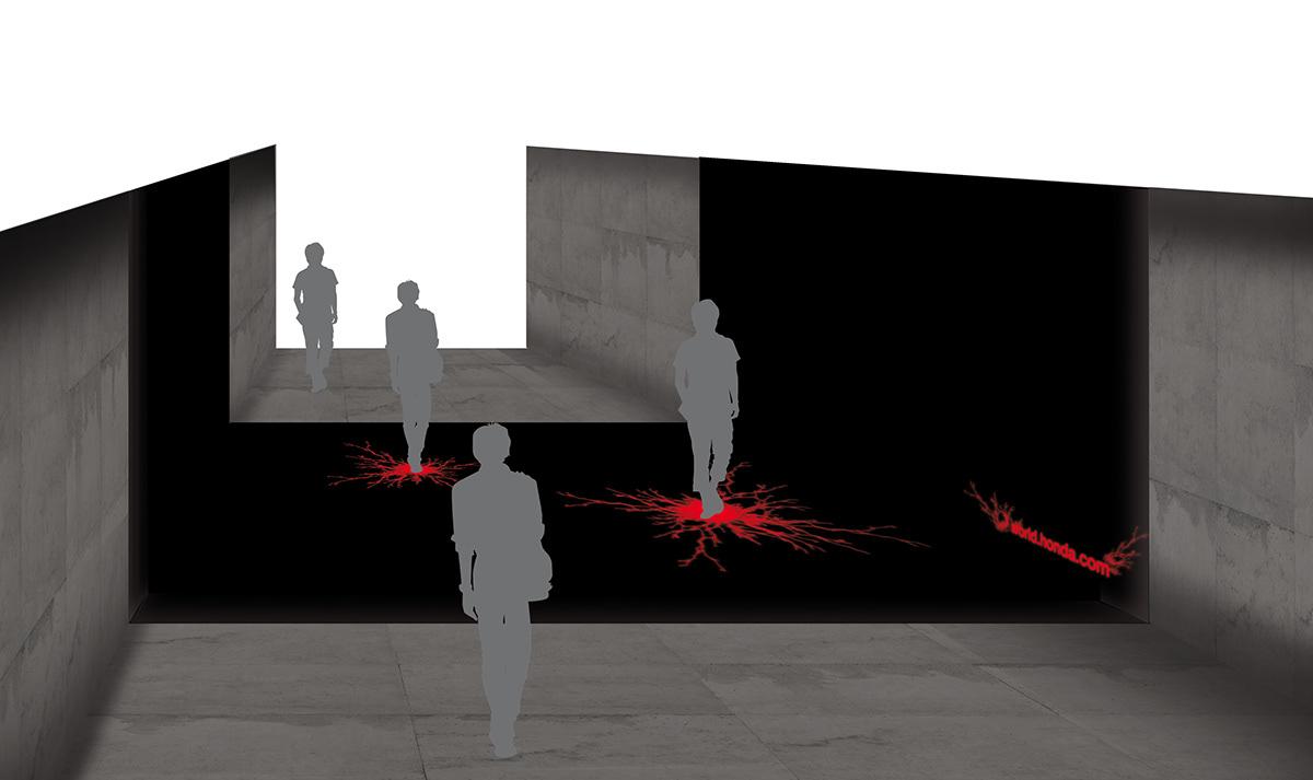 Honda Wieden + Kennedy D&AD environmental design led Human Behavior information ideas dream world electric art works Thinking interaction public space