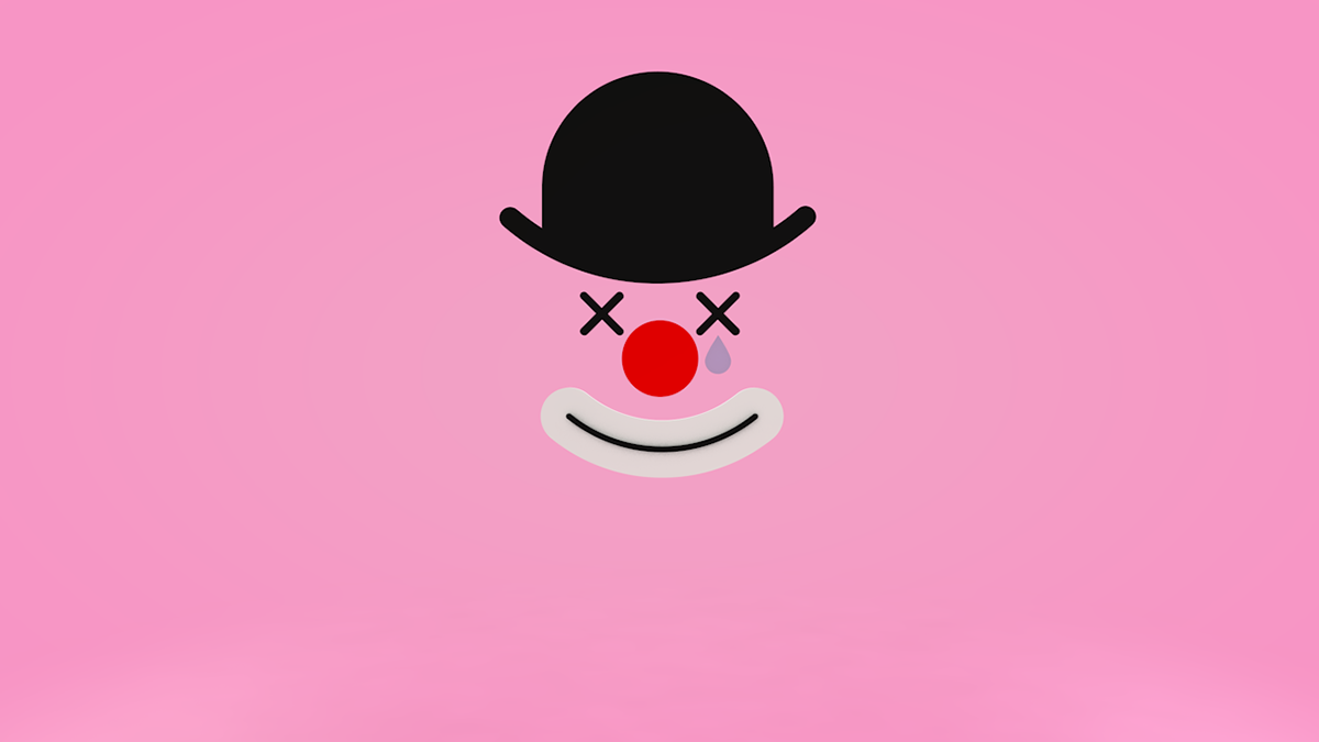 3D clown pastel rigidbody