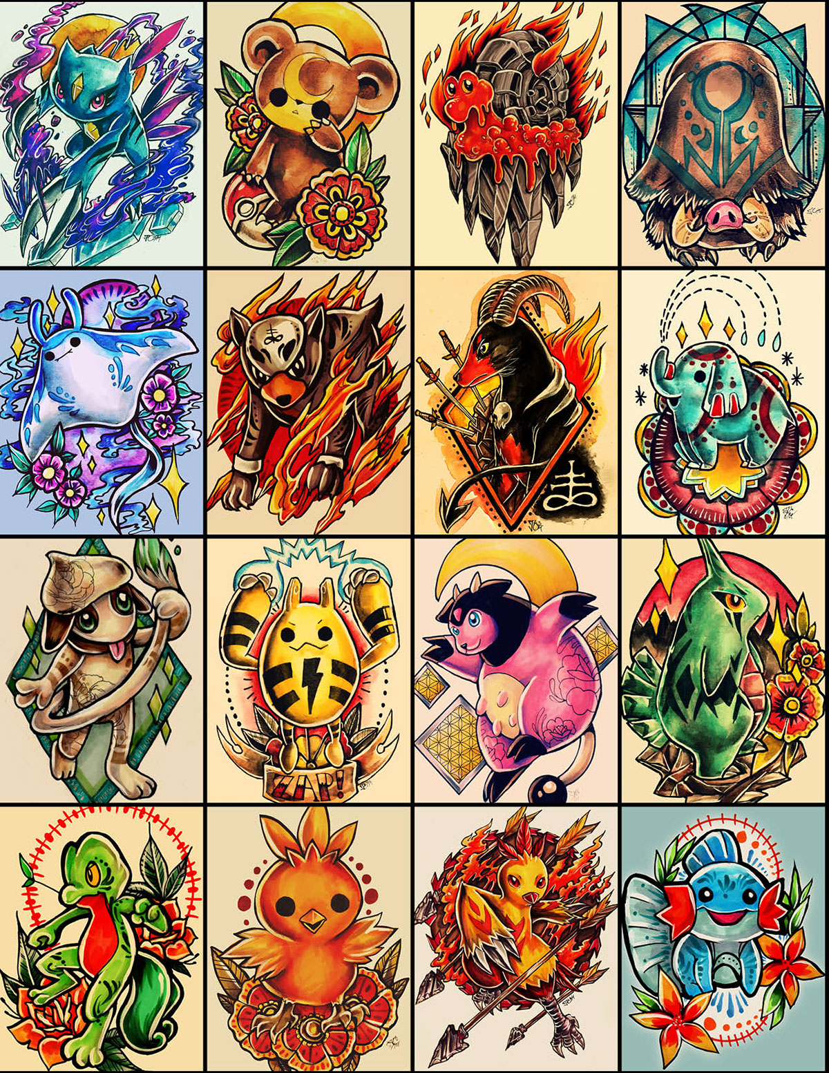 Pokemon tattoo designs on behance for Designs com