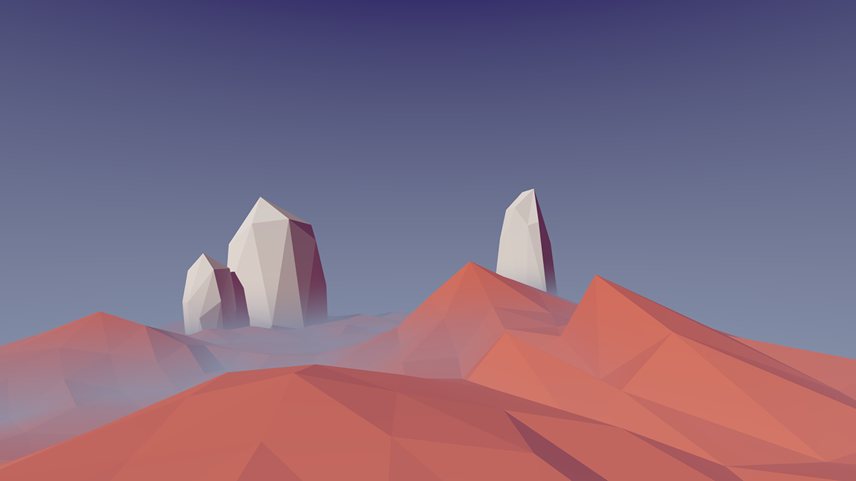 Low Poly Landscape on Behance