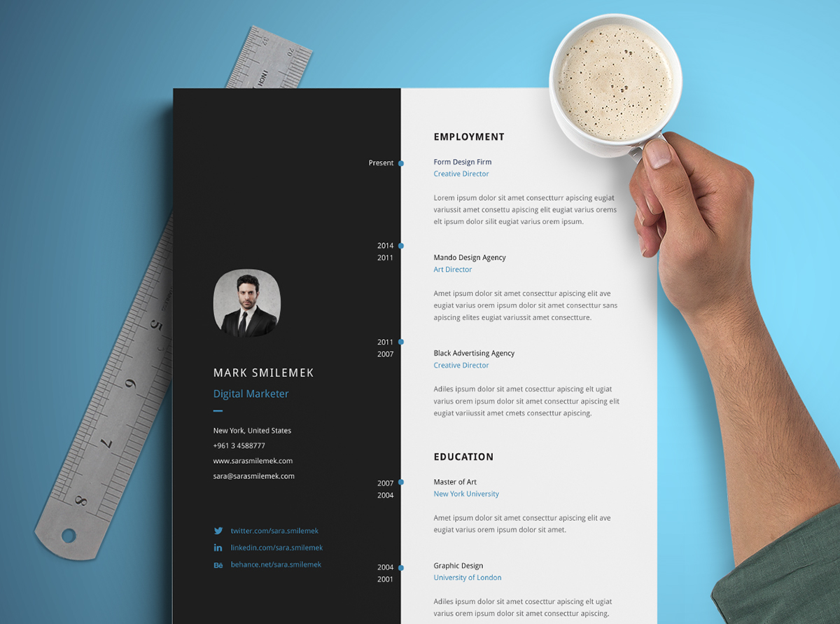 Classy Resume Template Best Resume Templates On Behance Best Images