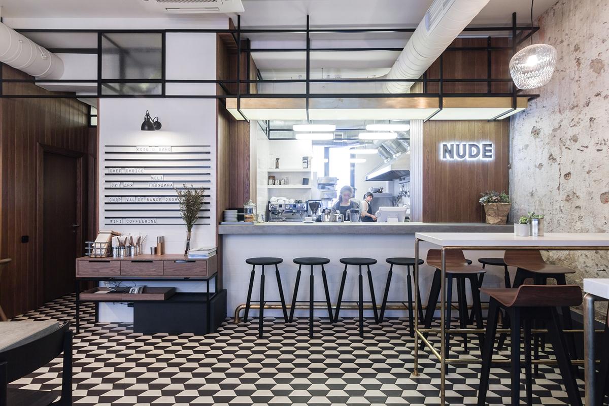 Nude Coffee Wine Bar On Behance