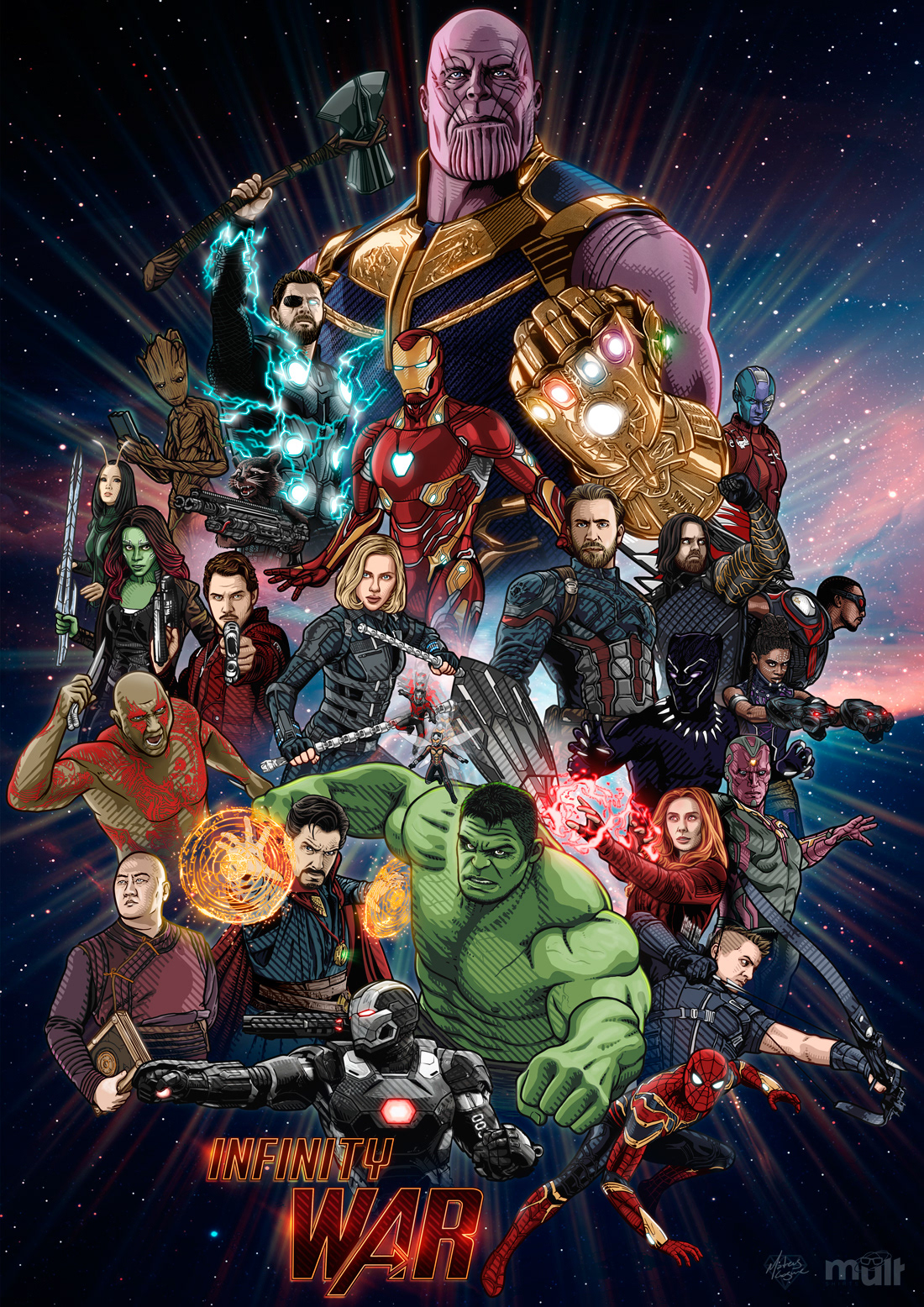 Artists coming together for Avengers: Infinity War Tribute