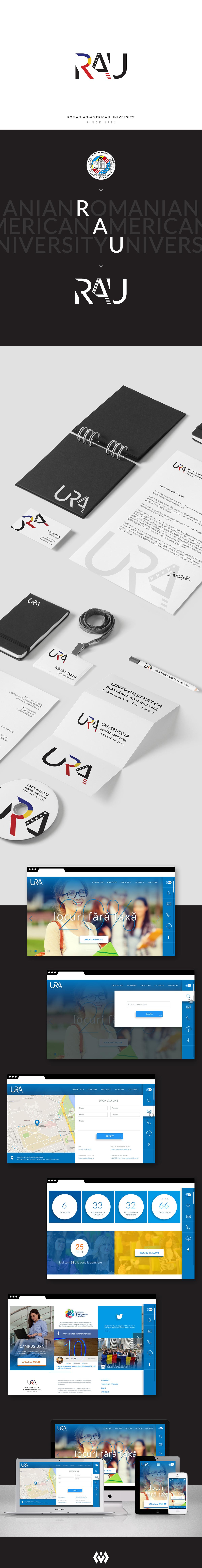 rebranding,logo,ux,UI,Web,design,Webdesign,Responsive,rau,University,romania,america,inspiration