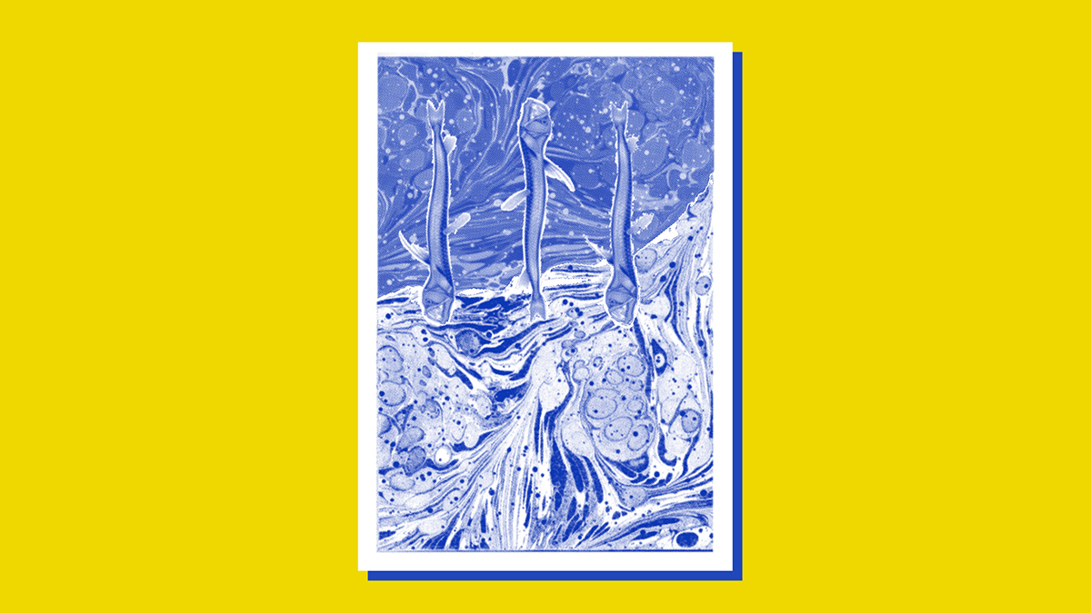 Screenprinting ILLUSTRATION  halftone glitches prints