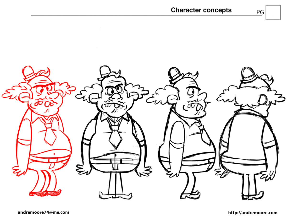 sketches characters turn-arounds Model Sheets