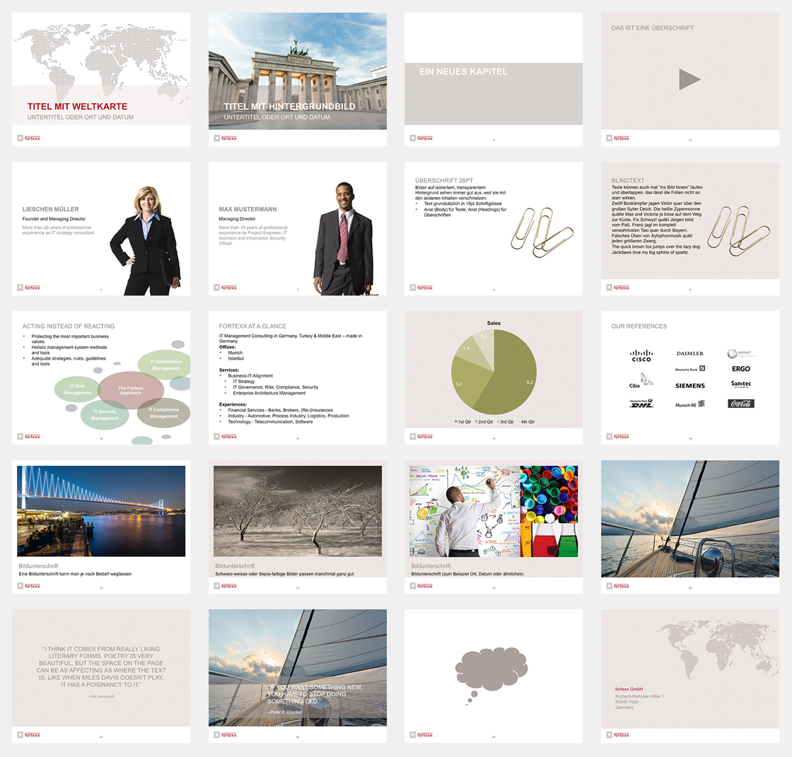 powerpoint master template for it consulting firm on behance, Modern powerpoint
