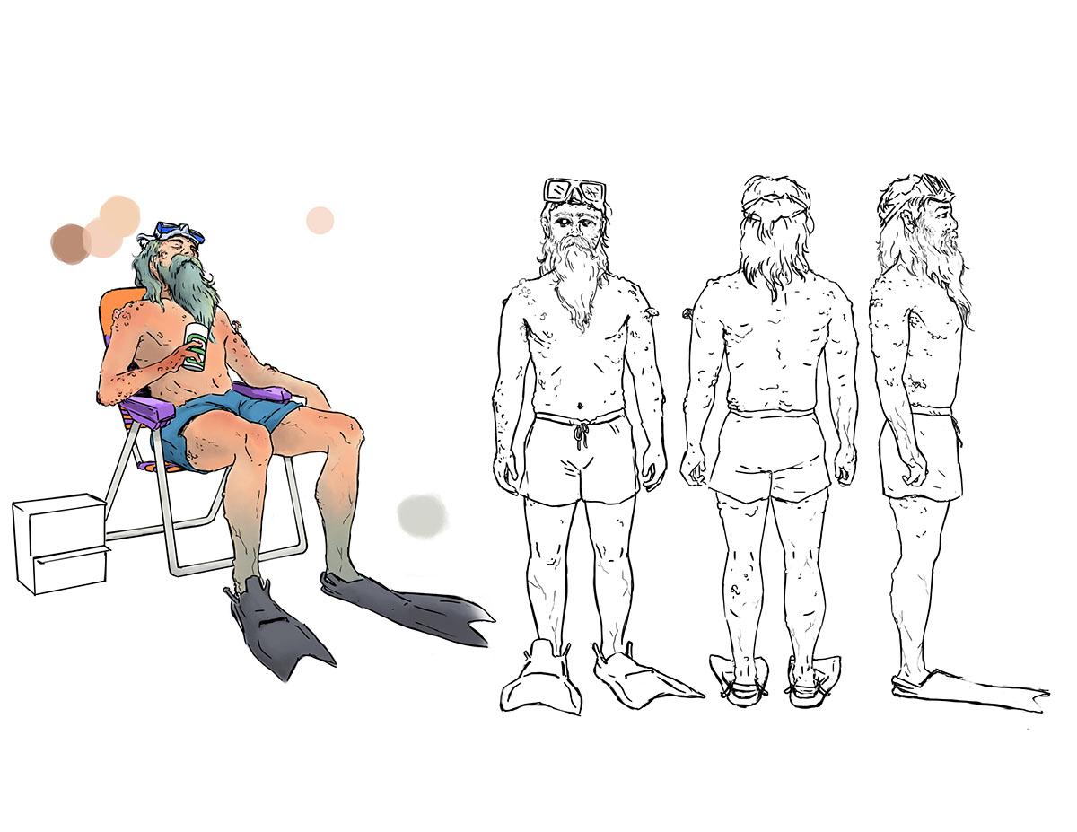 concept art ILLUSTRATION  digital Character design