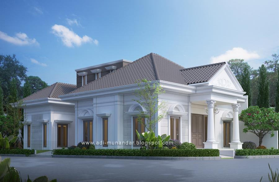Permalink to √ Top 15+ Ide Menarik Rumah Klasik 1 Lantai Tampak Depan