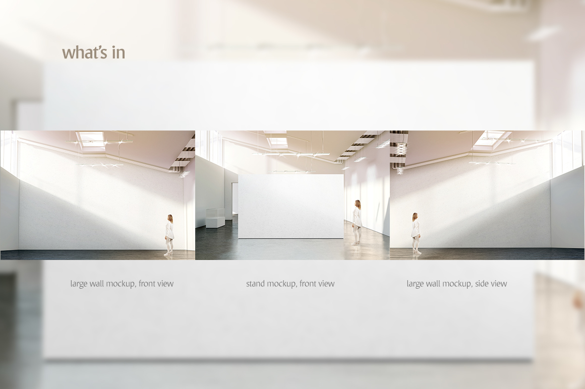 Graphicriver Exhibition Stand Design Mockup : Gallery wall mockup on behance