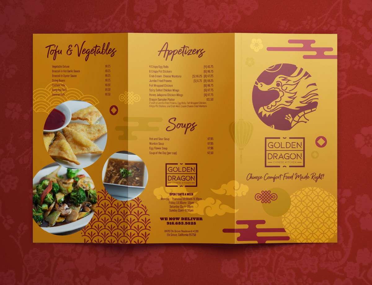 Menu Design For A Chinese Restaurant On Behance