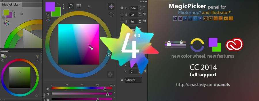Color Wheel For Photoshop Cc 2014 Cs6 Cs5 Cs4 Cs3 Panel On Behance