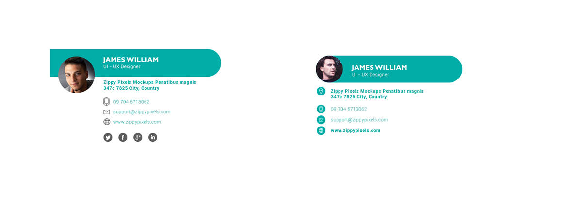 10 free email signature templates with elegant designs on pantone