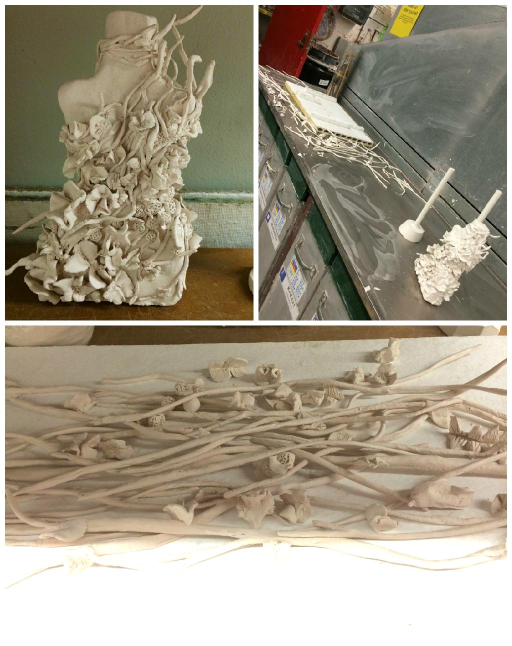 ceramics  White Nature twigs leaves beauty Fragile delicate risd