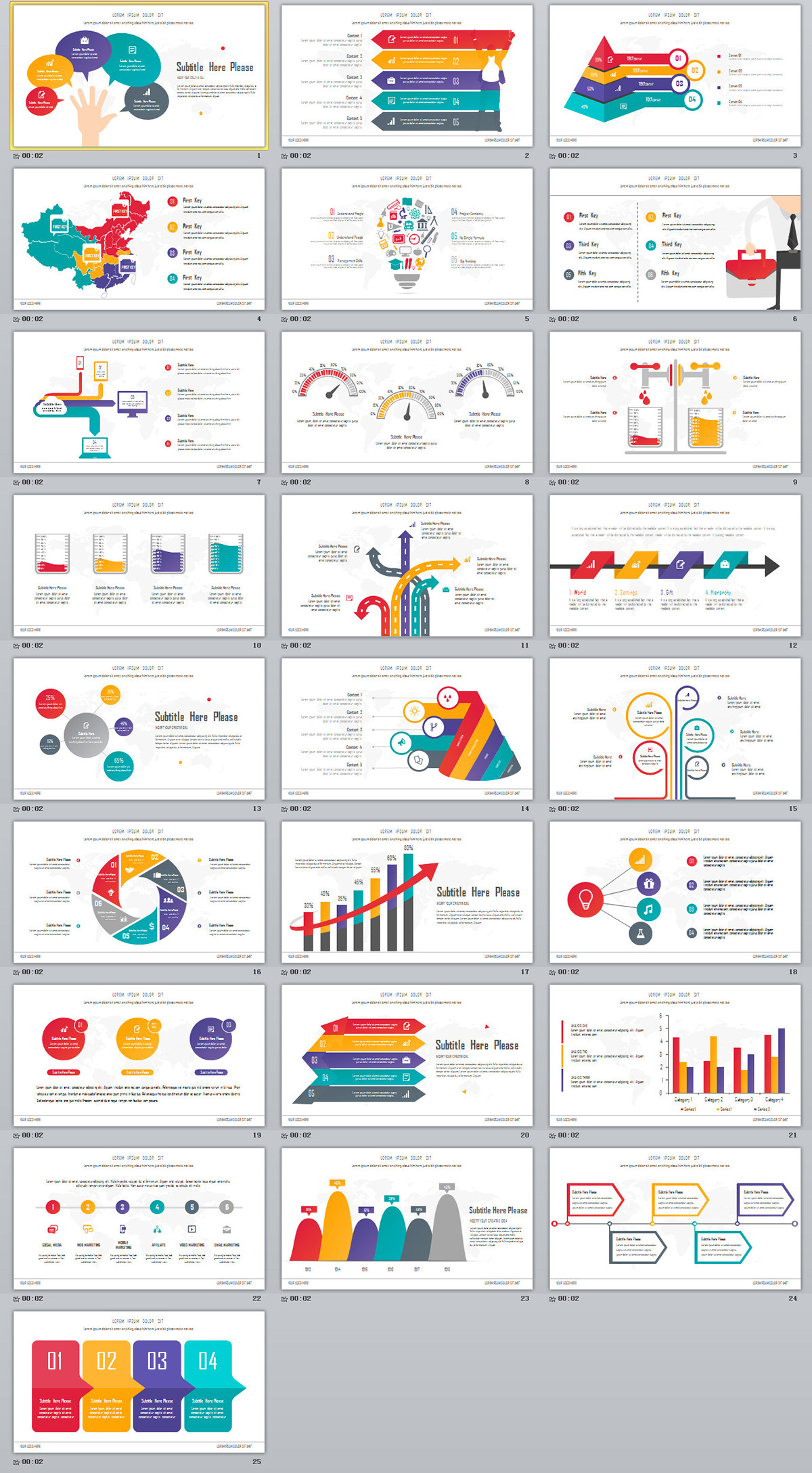25 Best Slide Infographic Powerpoint Templates On Behance