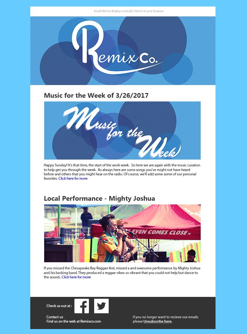 E-newletter newsletter Remixco