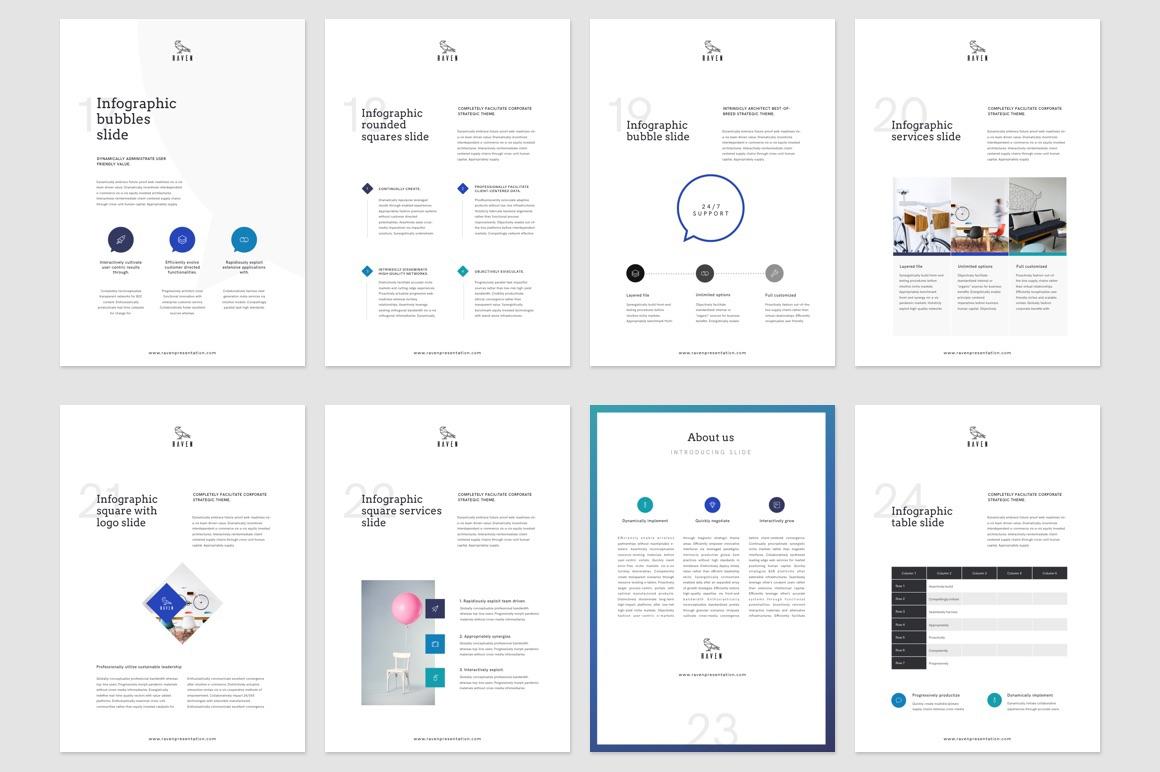 raven vertical keynote template    gift resume on behance