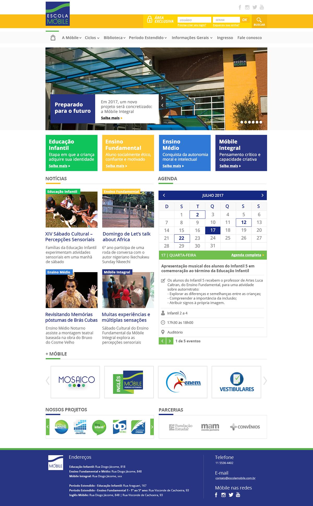 Escola Móbile escola Colégio site Website