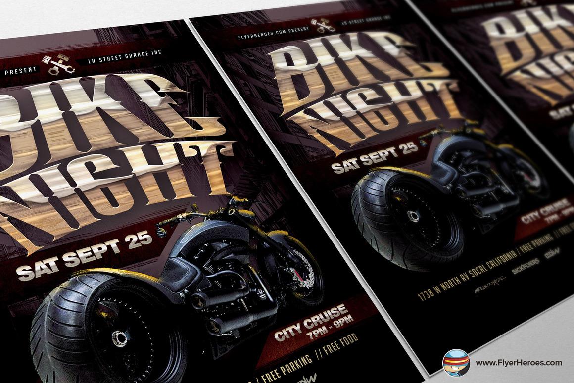 Bike night flyer template on behance for Flyerheroes free
