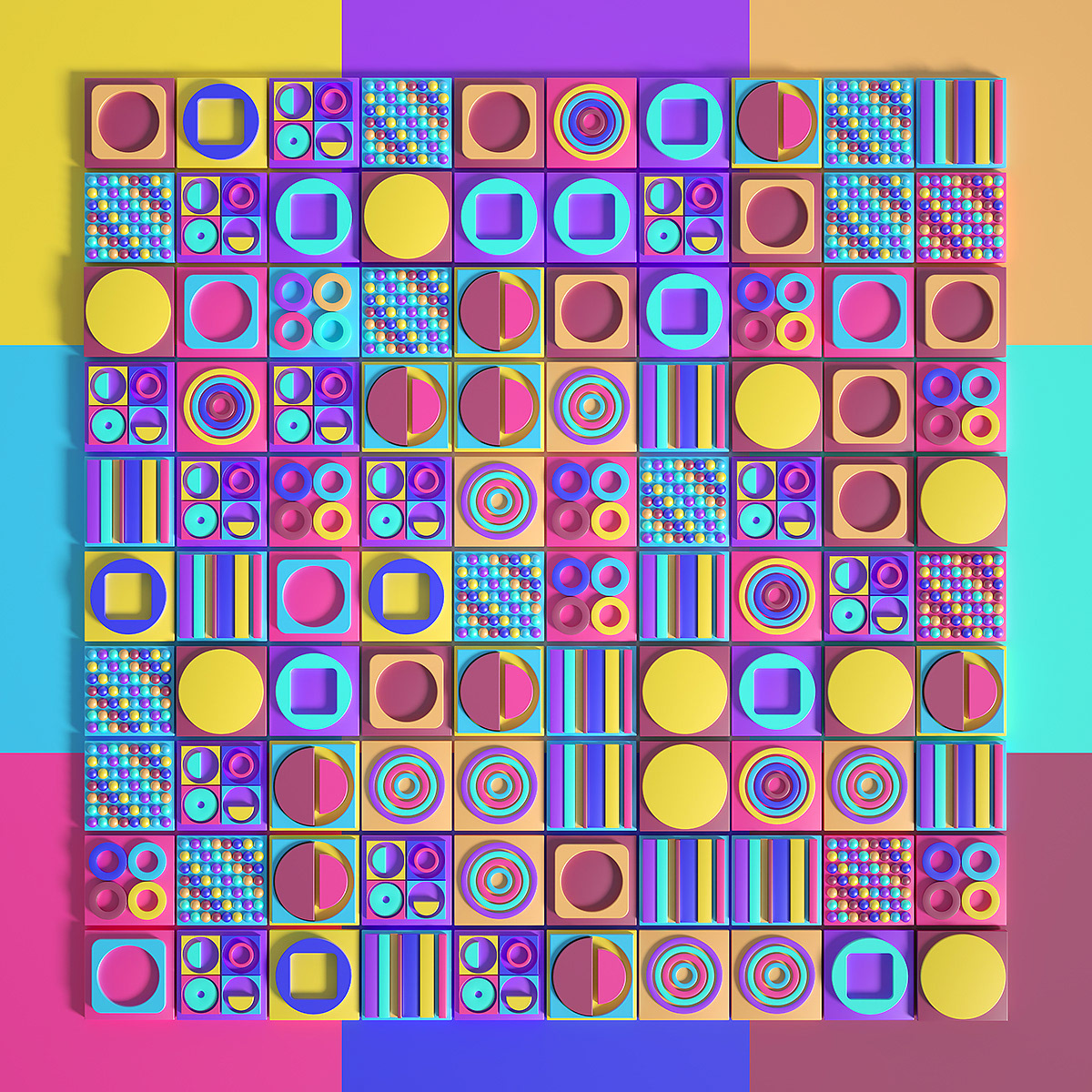 Image may contain: colorfulness, screenshot and pattern